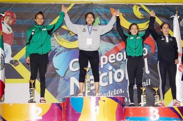 En el podium del Nacional Juvenil