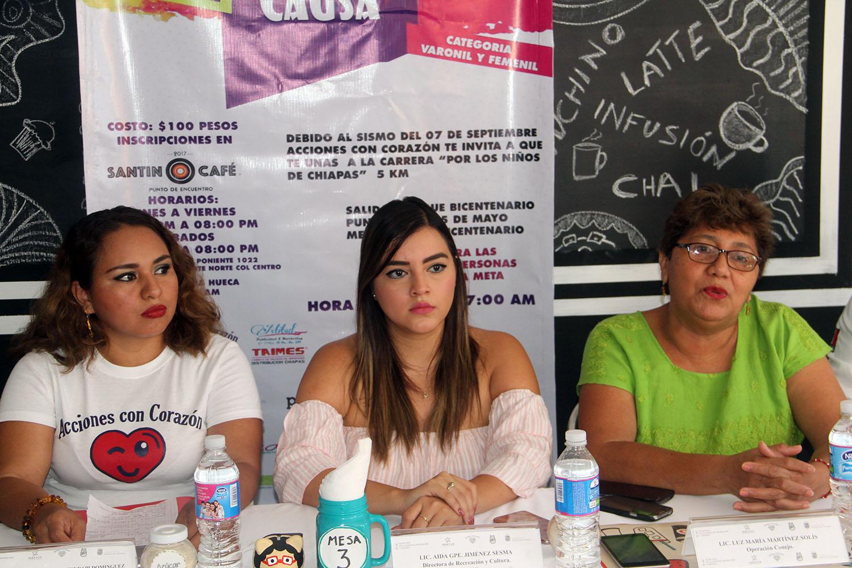 La SJRyD dio a conocer en conferencia de prensa la carrera con causa a beneficio de los damnificados del sismo del 7 de septiembre