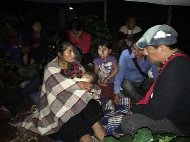 nueve muertes de indígenas desplazados