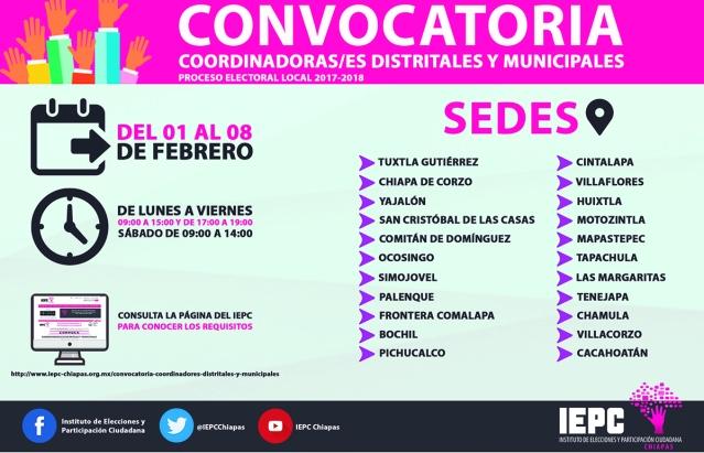 CONVOCATORIA COORDINADORES
