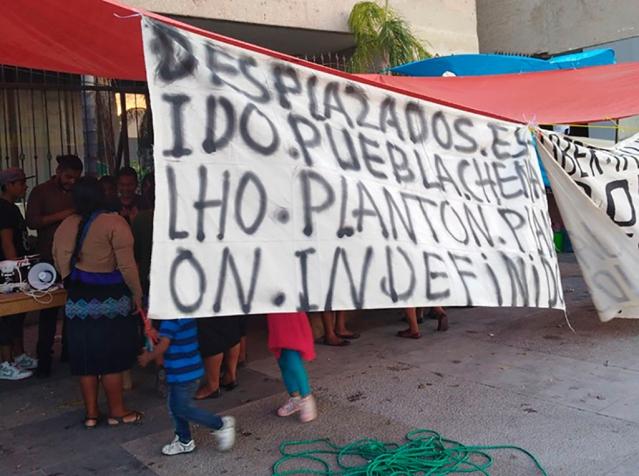 exigen a Velasco poner fin al desplazamiento forzado