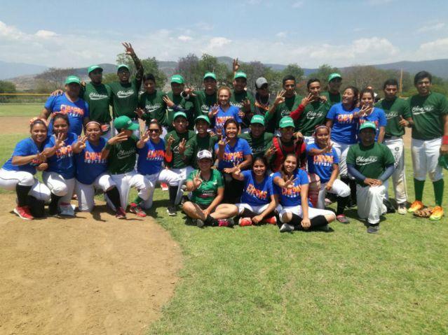 En softbol avanzan a OyNJ los equipos juveniles de Chiapas
