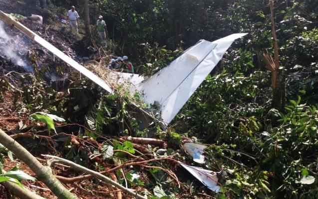 Desplome de avioneta en montañas de Chiapas