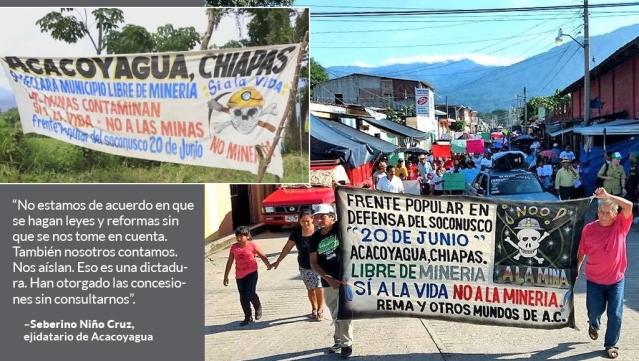 mineras que operan en Chiapas