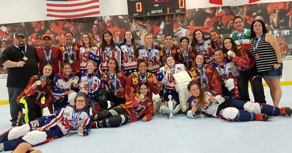 Estefania Otega destaca con la Seleccion Nacional de Hockey In Line (2)