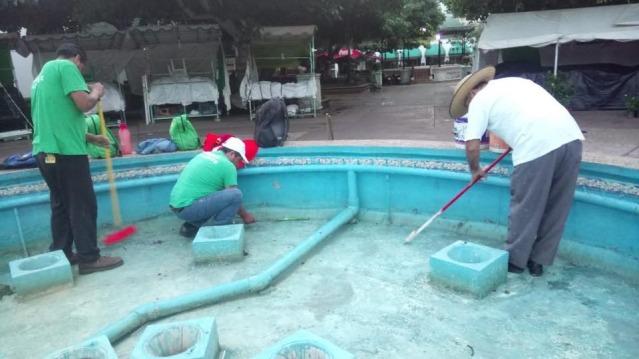 En marcha brigadas de limpieza en fuentes del primer
