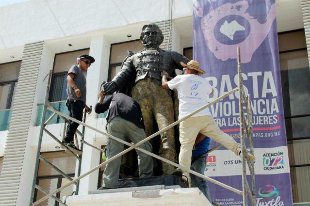 Iniciaran trabajos de restauración y rescate de los monumentos emblemáticos