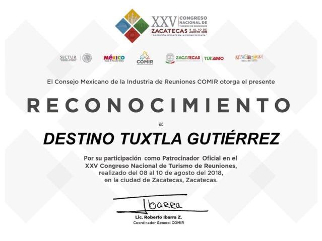 Reconocen a Tuxtla Gutiérrez